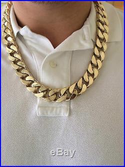630 Gram 25 inch 9Carat Yellow Gold Flat curb chain 9ct