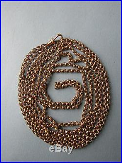 64 inches long ANTIQUE Victorian full length 9ct Gold Watch Guard Chain 31g Vgc
