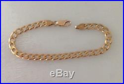 8.5 Curb Chain Bracelet 9ct Gold 375 Yellow Gold Solid 11.3g. Quality NOT Scrap