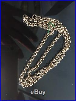 9 CT Gold Belcher solid Hallmarked Gold Belcher Link Chain 25 Grams 20 inch l