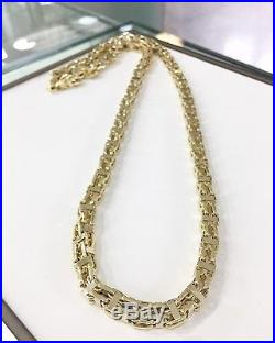 9 CT Yellow Gold CAGE Chain Gents