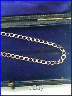 9 Carat Gold Necklace 9ct Gold Chain 18 Inch Yellow Gold Curb Link Chain SALE
