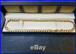 9 Ct Gold Chain 18inch 21.79 grams Used Great Condition Genuine hallmarked