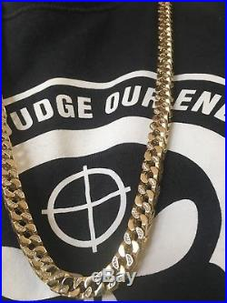 9 Ct Gold Franco Chain Iced Out