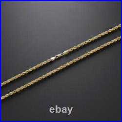 9 K Yellow Gold Italian Rope Chain 22- 2.5mm Hallmark RRP £270 i11 22
