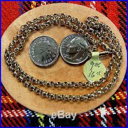 9 ct GOLD second hand antique belcher chain