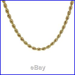 9 ct Gold Italian Rope Chain -20 -5mm -13g -Hallmark I10 20 FINANCE AVAILABLE