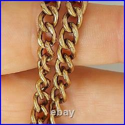 9 ct carat Rose gold fob watch chain 30g 17.5 rare jewellery hallmarked R55