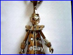 9 ct gold clown pendant and chain