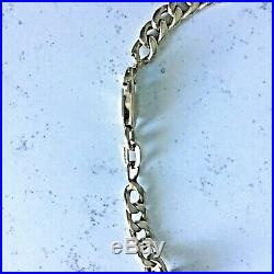 9 ct gold curb chain 17 inches long