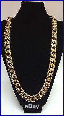 930 Gram 36 inch 9Carat Yellow Gold cuban curb chain 9ct