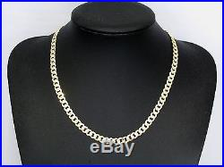 9ct Gold Chain, Hallmarked Heavy Curb Chain, Weight 32.1 Grams, Length 20 Inches