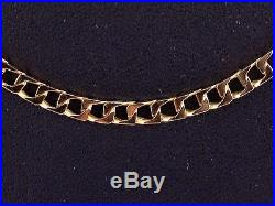 9CT GOLD CHAIN, HALLMARKED LONG THIN CURB CHAIN, LENGTH 30 INCHES
