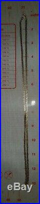 9CT GOLD FLAT CURB LINK CHAIN NECKLACE 24 inches