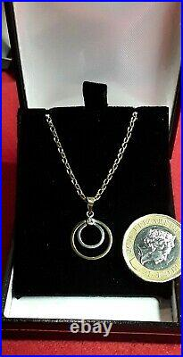 9CT GOLD HALLMARKED NECKLACE WITH 9ct PENDANT 3.3 Grams 18. Inch Chain