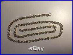 9CT GOLD LADIES / MENS ROPE CHAIN NECKLACE 20.5 8.5g