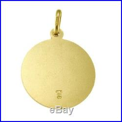 9CT GOLD ST SAINT CHRISTOPHER PENDANT CHAIN NECKLACE WITH GIFT BOX 3.7g 20mm