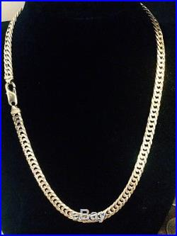 9CT Gold Heavy Tight Curb Chain 76 grams. Reduced price £1100.00
