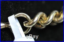 9CT Solid Gold Albert Chain T-Bar Hallmard 375