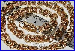 9CT YELLOW GOLD ON SILVER 26 INCH MEN'S SOLID BELCHER CHAIN 84.9 grams