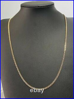 9CT solid gold curb link Chain Necklace 12.78g / 62cm