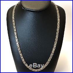 9Carat (9ct) Gold Byzantine Link Chain Solid Yellow Gold 20 Long 24.82g