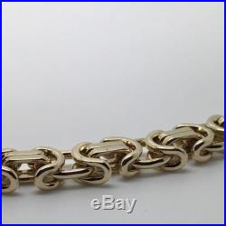 9Carat (9ct) Gold Byzantine Link Chain Solid Yellow Gold 21 Long 48.65g