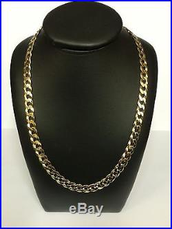 9Carat (9ct) Gold Curb Chain 20 Long Solid Links Yellow Gold 28.24g