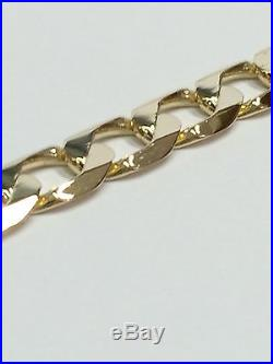 9Carat (9ct) Gold Curb Chain 22 Long Solid Links Yellow Gold 31.21g