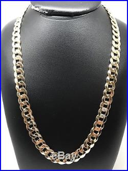 9Carat (9ct) Gold Flat Curb Chain Yellow Gold Solid 20 Long 34.40g