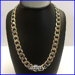 9Carat (9ct) Gold Heavy Curb Chain Solid Yellow Gold 20 Long 80.18g