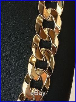 9Carat (9ct) Gold Heavy Curb Chain Solid Yellow Gold 22 Long 79.90g