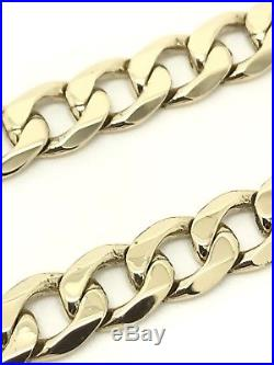 9Carat (9ct) Gold Heavy Curb Link Chain Yellow Gold Solid -20 Long 50.95g