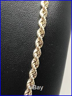 9Carat (9ct) Gold Solid Rope Chain Yellow Gold 24 Long 11.18g