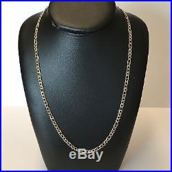 9Carat (9ct) Gold Unusual Figaro Chain Yellow Gold Solid 24 Long 11.28g
