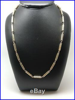 9Carat (9ct) Gold Unusual Tube Link Chain/ Necklace Yellow Gold 28 16.25g