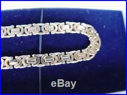 9Ct Gold Byzantine Link Chain, Fancy Links, Hallmarked Birmingham