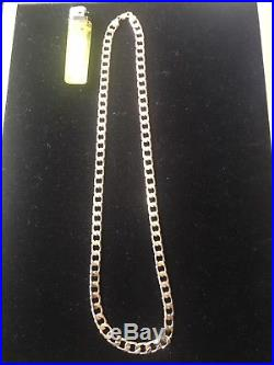 9Ct Gold Curb Link Chain 27 Weighs 77.5Grams