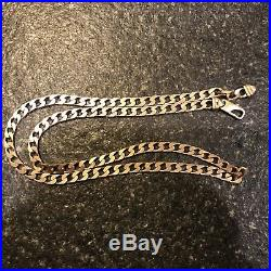 9K gold 9CT gold Gold Curb Chain/Necklace 45cm Hallmarked