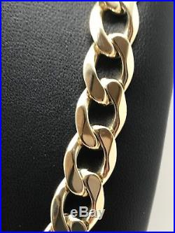9carar (9ct) Gold Heavy Curb Chain- 3OZ- Yellow Gold Solid 20 Long 94.83g