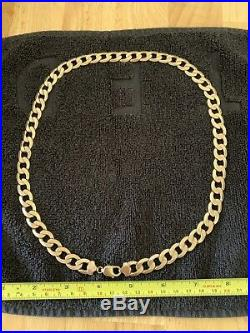 9carat (9ct) Gold Heavy Curb Chain 3+oz Solid 24 Long 96grams