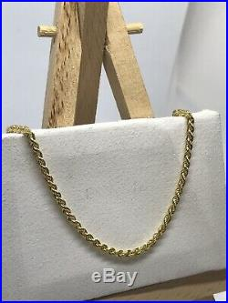 9ct 375 Hallmarked Solid Yellow Gold 2mm Rope Chain Necklace Brand New ALL SIZE