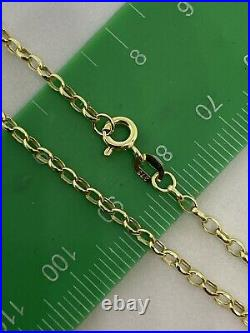 9ct 375 Hallmarked Yellow Gold 2mm Oval Belcher Link Chain Necklace Brand new