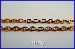 9ct 375 ROSE GOLD ALBERT & T-BAR 15.25 chain double clip clasp chunky oval link