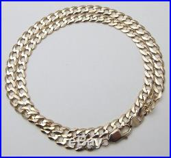 9ct 9Carat Yellow Gold 32g Curb Chain 22.5 Long Hallmarked UK SELLER