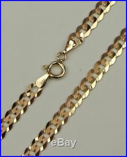 9ct 9Carat Yellow Gold Curb Chain Necklace 18 Inch UK SELLER