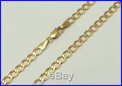 9ct 9Carat Yellow Gold Curb Linked Chain Necklace 18.5 Inch UK HALLMARKED