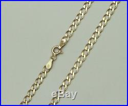 9ct 9Carat Yellow Gold Curb Linked Chain Necklace 20 Inch UK HALLMARKED