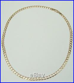 9ct 9Carat Yellow Gold Curb Linked Necklace 16.75 Inch UK SELLER & HALLMARK