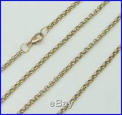 9ct 9Carat Yellow Gold Fine Belcher Chain Necklace 26 Inch UK SELLER